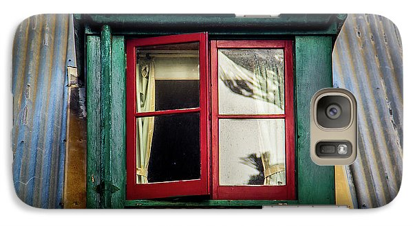 Galaxy Case featuring the photograph Red Windows by Perry Webster