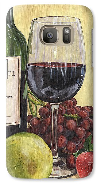 Red Wine And Pear 2 Galaxy S7 Case by Debbie DeWitt