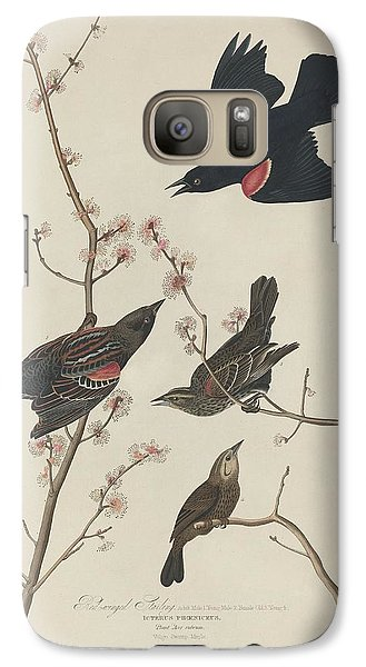 Red-winged Starling Galaxy S7 Case by Dreyer Wildlife Print Collections