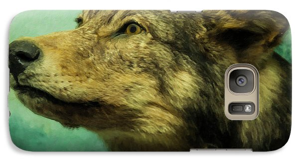 Galaxy Case featuring the digital art Red Wolf Digital Art by Chris Flees