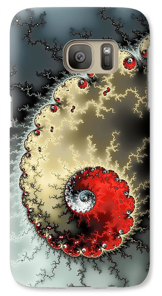 Red Yellow Grey And Black - Amazing Mandelbrot Fractal Galaxy S7 Case