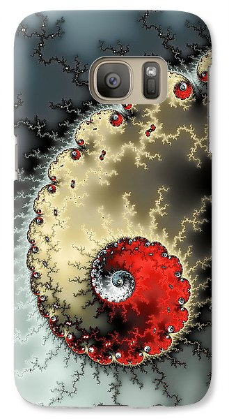 Red Yellow Grey And Black - Amazing Mandelbrot Fractal Galaxy S7 Case by Matthias Hauser