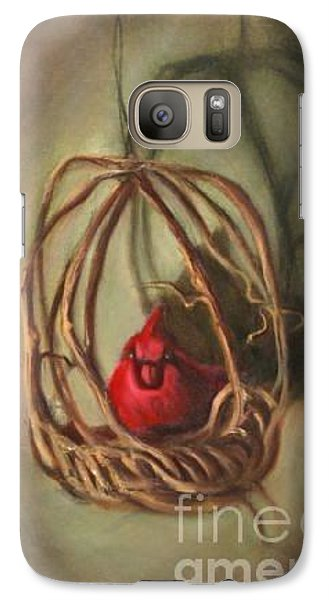 Galaxy Case featuring the painting Redbird by Randol Burns