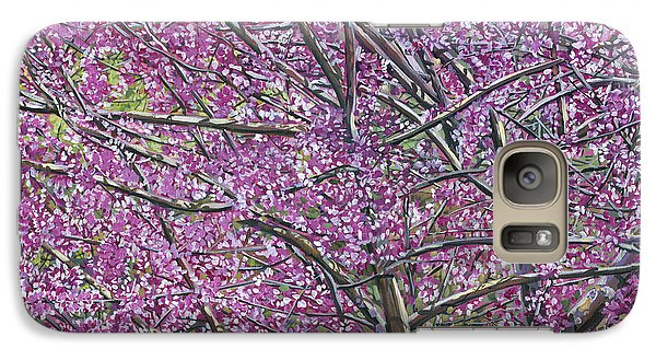 Galaxy Case featuring the painting Redbud Tree by Nadi Spencer