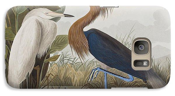 Egret Galaxy S7 Case - Reddish Egret by John James Audubon