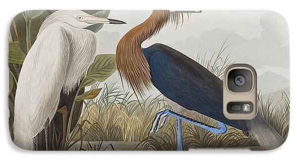 Reddish Egret Galaxy S7 Case by John James Audubon