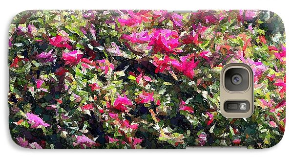Galaxy Case featuring the photograph Reddish Pink Crackled Flowers by Ellen O'Reilly