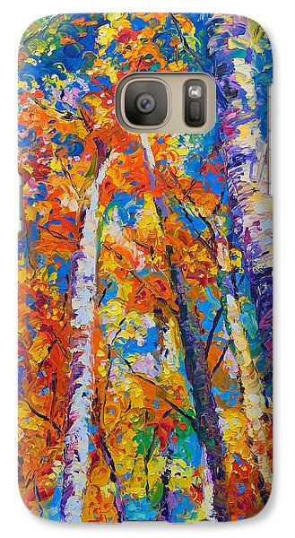 Redemption - Fall Birch And Aspen Galaxy S7 Case