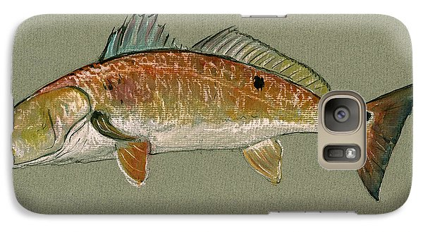 Redfish Watercolor Painting Galaxy S7 Case by Juan  Bosco