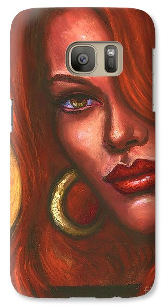 Galaxy Case featuring the painting Redhead by Alga Washington