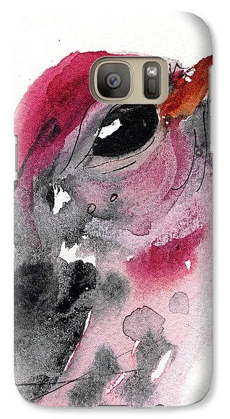 Galaxy Case featuring the painting Redpole by Dawn Derman