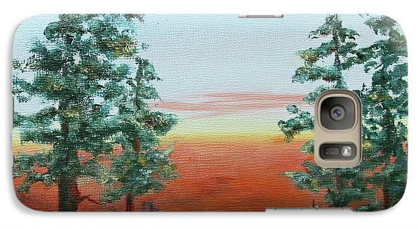 Galaxy Case featuring the painting Redwood Overlook by Roseann Gilmore