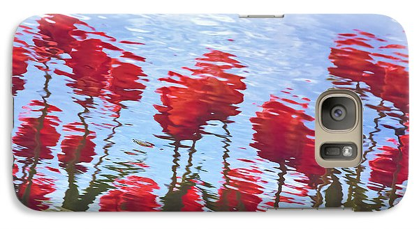 Galaxy Case featuring the photograph Reflected Tulips by Tom Vaughan