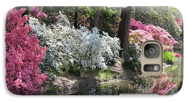 Galaxy Case featuring the photograph Reflecting Azaleas by Linda Geiger
