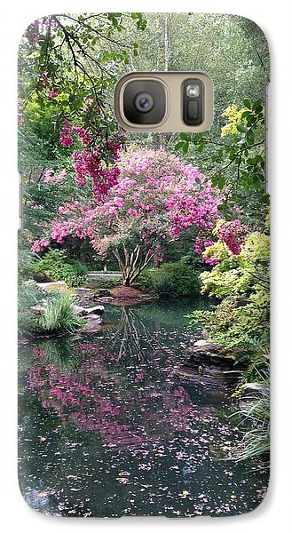 Galaxy Case featuring the photograph Reflecting Crape-myrtles by Linda Geiger