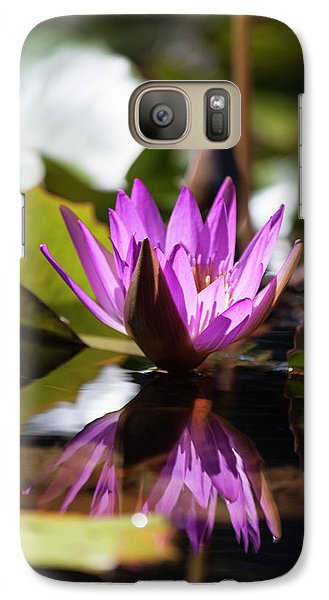 Galaxy Case featuring the photograph Reflection In Fuchsia by Suzanne Gaff