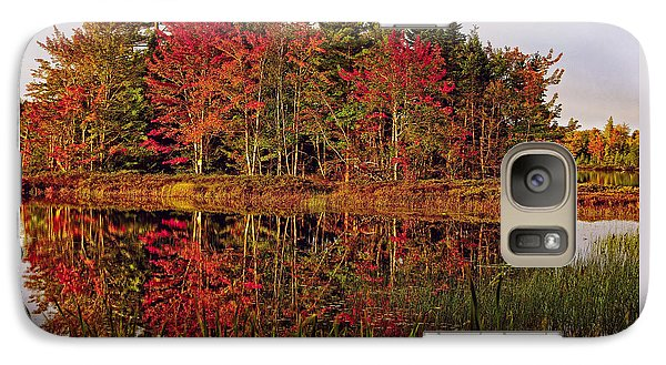 Galaxy Case featuring the photograph Reflection Island by Kathleen Sartoris