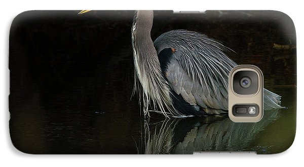 Galaxy Case featuring the photograph Reflection Of A Heron by George Randy Bass