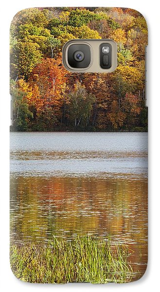 Galaxy Case featuring the photograph Reflection Of Autumn Colors In A Lake by Susan Dykstra
