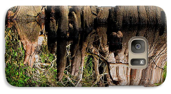 Galaxy Case featuring the photograph Reflection Of Cypress Knees by Barbara Bowen