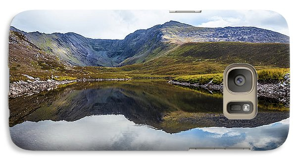 Galaxy Case featuring the photograph Reflection Of The Macgillycuddy's Reeks In Lough Eagher by Semmick Photo