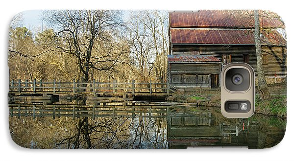 Galaxy Case featuring the photograph Reflection On A Grist Mill by George Randy Bass