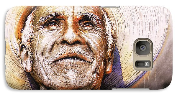 Galaxy Case featuring the painting Reflections About Earth, Bronze And Sun by J- J- Espinoza