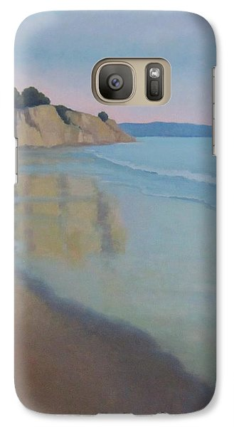 Galaxy Case featuring the painting Reflections At Summerland Beach Series 3 by Jennifer Boswell