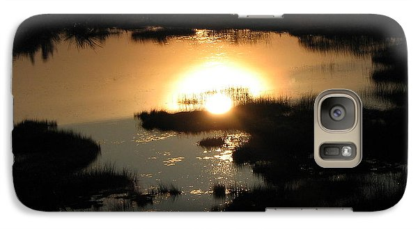 Galaxy Case featuring the photograph Reflections At Sunset by Barbara Yearty