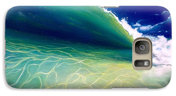 Galaxy Case featuring the painting Reflections by Dawn Harrell