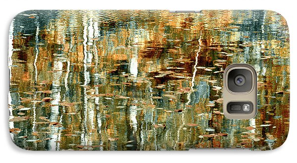 Galaxy Case featuring the photograph Reflections In Teal by Ann Bridges