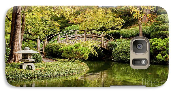 Galaxy Case featuring the photograph Reflections In The Japanese Garden by Iris Greenwell