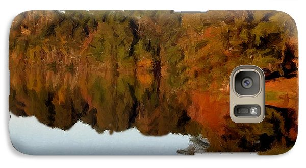 Galaxy Case featuring the painting Reflections Of A Pennsylvania Autumn by David Dehner
