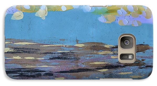 Galaxy Case featuring the painting Reflections Of An Oregon Beach by Theresa Kennedy DuPay