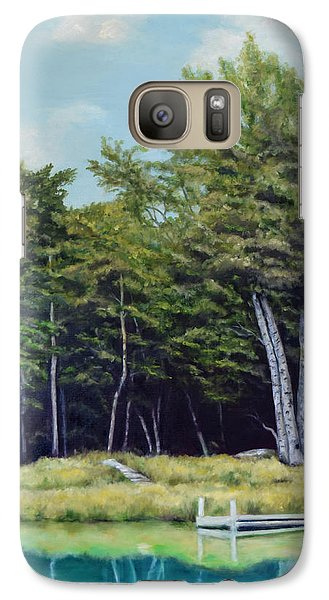 Galaxy Case featuring the painting Reflections Of Birches by Sandra Nardone