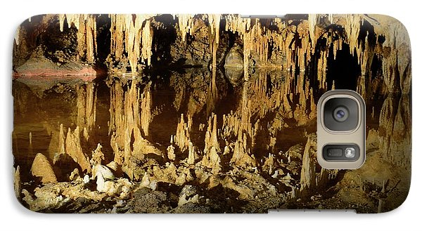 Galaxy Case featuring the photograph Reflections Of Dream Lake At Luray Caverns by Paul Ward