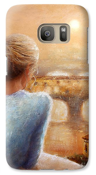 Galaxy Case featuring the painting Reflections Of Florence by Michael Rock