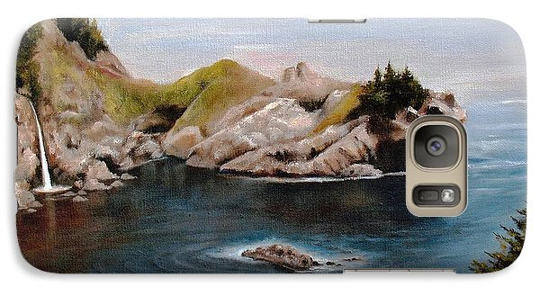 Galaxy Case featuring the painting Reflections Of The Past by Hazel Holland