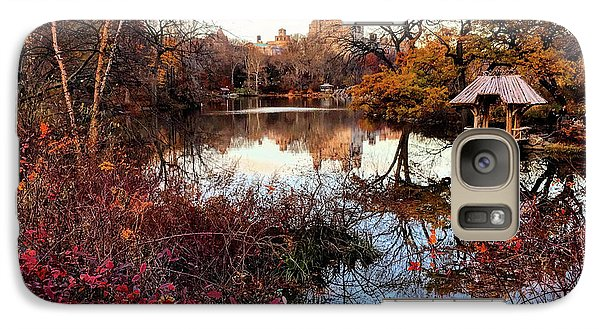 Galaxy Case featuring the photograph Reflections On A Winter Day - Central Park by Madeline Ellis