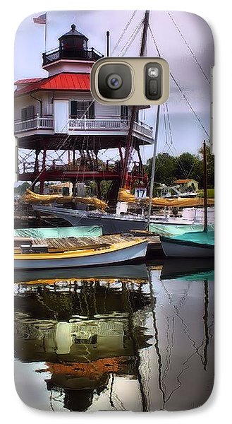 Galaxy Case featuring the photograph Reflections On Golden Creek by Robert McCubbin