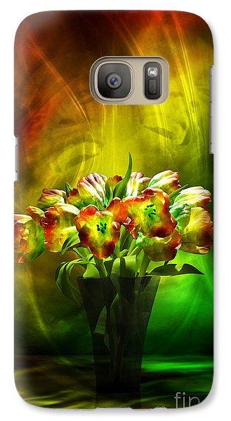 Galaxy Case featuring the digital art Reggae Tulips by Johnny Hildingsson