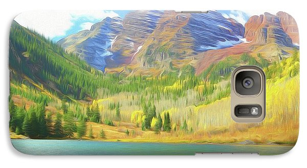 Galaxy Case featuring the photograph The Maroon Bells Reimagined 1 by Eric Glaser