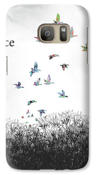Galaxy Case featuring the digital art Rejoice by Trilby Cole