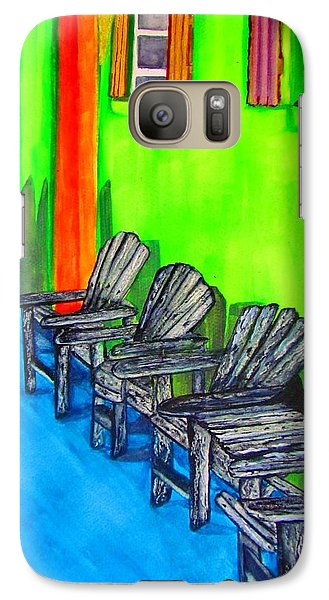 Galaxy Case featuring the painting Relax by Lil Taylor