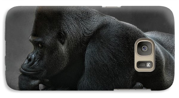 Gorilla Galaxy S7 Case - Relaxed Silverback by Joachim G Pinkawa
