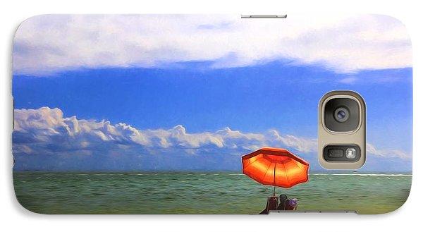Galaxy Case featuring the digital art Relaxing On Sanibel by Sharon Batdorf