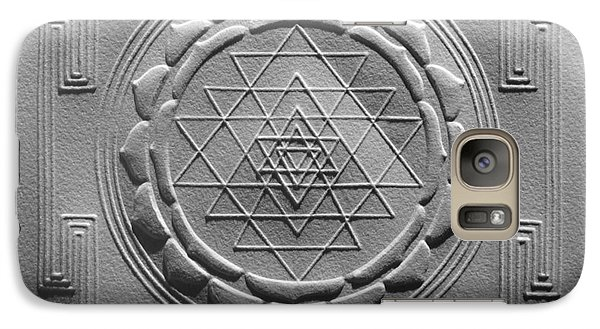Galaxy Case featuring the relief Relief Shree Yantra by Suhas Tavkar