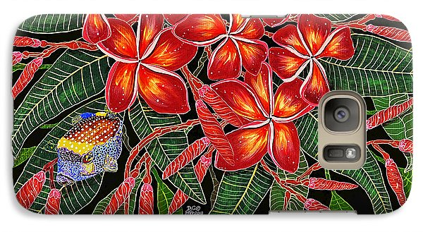 Galaxy Case featuring the painting Tropical Fish Plumerias by Debbie Chamberlin