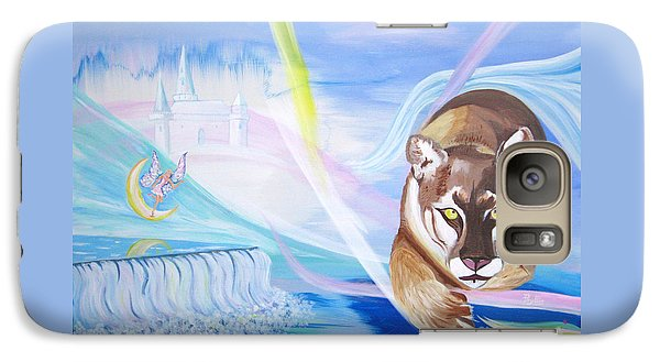 Galaxy Case featuring the painting Remembering Childhood Dreams by Phyllis Kaltenbach