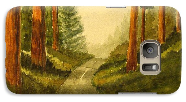 Galaxy Case featuring the painting Remembering Redwoods by Marilyn Jacobson